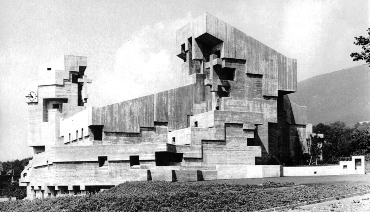 fuckyeahbrutalism:   Catholic Church, Bettlach, Switzerland, 1964-68 (Walter M. Förderer)
