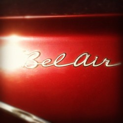 Bel Air #type #typography #chromeography #vintage #retro #script #chevy #chevrolet (Taken with instagram)
