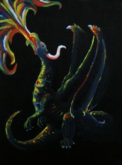 A humble dragon painting done by me.