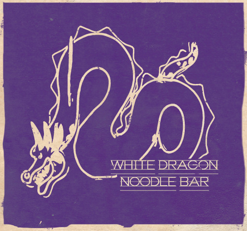 Year of the Dragon The White Dragon Noodle Bar logo from Blade Runner illustrated by Cameron Baxter :: via flickr.com