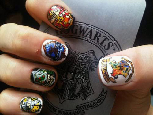 flavorpill:  Great works of literature-inspired nail art