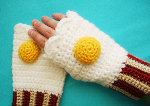 Finally some handmade fingerless mitts fit for Ron Swanson!