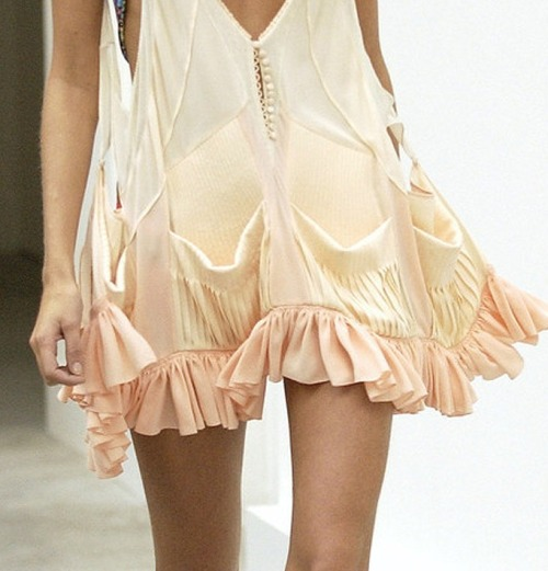 Love the ruffles on this dress.