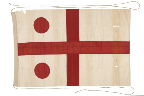 Command flag, Rear Admiral, RN - National Maritime Museum