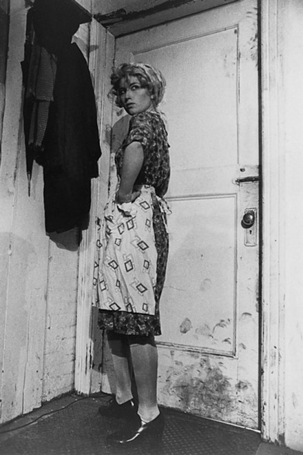 Cindy Sherman (b. Jan 19, 1954) is a great American feminist photographer who stages herself in various photo tableaux… Above: Untitled Film Still #35, 1979 (The Whitney)