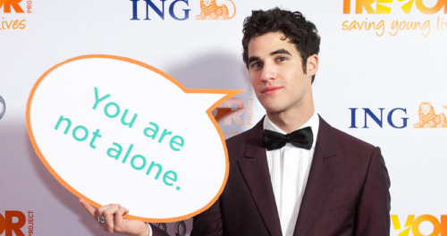 "thetrevorproject:  I had the opportunity to see Darren Criss debut on Broadway, taking over for Daniel Radcliffe (another well known Trevor supporter) as J. Pierrepont Finch in ""How to Succeed in Business Without Really Trying."" While Darren was amazing and is perfect for the role, anyone who knows his story knows that the title is all wrong; his success comes from constant perseverance. From trying.It's no surprise that fans of someone so passionate are similarly motivated to do good, however they can. They are a creative and talented bunch, brimming with energy and the need to help, to make change. Recognizing this, a group of friends - friends I met through Darren's Tumblr fanbase, a total of four of us spannning three states and two time zones - and I planned a 24 hour fundraiser for The Trevor Project by calling out to the fandom. We asked people to volunteer their time and talent to write and draw and create for fellow fans in return for donations; we planned silly and occasionally embarrassing challenges to encourage people to tune in. It was a simple concept, and we didn't know what would happen, but we wanted to try.We wanted to mobilize the fandom, to work together as a group to show the world that regardless of age, of race or sexuality or socioeconomic status, a group of people with a common goal can accomplish anything. They can change the world.We had high hopes in the planning stages - get a dozen, maybe two dozen people to donate their talent, embarrass ourselves enough to keep people interested, and bring people together for a day while hopefully raising some money. We worried about our donation goal, agonizing over falling short vs. selling ourselves short, before finally setting the initial goal at $1000 and sitting in awe at the idea of achieving it.The response was overwhelming. Over one hundred people stepped forward to donate art and words and, far beyond our expectations, actual items. Autographs and rare magazines and merchandise they had purchased at Glee and Starkid events and Darren's shows. They handed over their prized possessions in hopes of raising money for The Trevor Project. They were waiting for a chance to do something, to make a difference, and once given the opportunity their selflessness knew no bounds.We thought the livestream would be silly, and for large periods of time, it was. There was singing and laughing and ranting and more slushies to the face than I care to remember. But there was also an overwhelming sense of community. People poured their hearts out to us. They shared stories of how fandom has given them a place to belong, introduced them to their best friends, literally saved their lives. For 24 hours, we were united, and we were unstoppable.The check we set to The Trevor Project was in the amount of $8764.87. To say that we were surprised and overwhelmed is an understatement. Sometimes I'm still not sure it all happened.Fandom is a common target of mockery, often derided as childish or creepy, a waste of time. And it can be. But fandom is a powerful thing, a source of thus far mostly untapped potential. It's not only Darren's fans, either; groups focused on people like Daniel Radcliffe and Adam Lambert have been vocal in their support of the Trevor Project just as we have. The voice of a fandom carries weight.Long after the fundraiser, Darren's fans are still working to help support The Trevor Project, not only because of our own love for the organization, but as a show of support for Darren's work within it. We publicized and tirelessly voted in the Mashable Awards and helped them secure the award for Must Follow Non-Profit on Social Media. We promote their events, watch their livestreams, celebrate their efforts.Not everyone has the means or the time to travel around the country, or the world, supporting their favorite actors and artists; I know how lucky I am to have been able to go where I have and be a part of the screaming crowds. But you can show your support in so many ways. Find organizations that you believe in, that your idols work with and support, and find out what you can do to help. If you have the ability, plan a fundraiser. Look for volunteer opportunities. Watch their Twitters and blogs and when they are in the running for an award or a grant or anything that can be aided by their supporters, talk about it. Work within your fandom to organize voting drives and publicize links, and you'll be amazed at what you can accomplish.Darren's fans have turned out en masse to support his Broadway run, traveling from all over the world, but there are many who couldn't be there. The crowd at opening night was energetic and supportive, and when Darren took his bows to a deafening standing ovation, the emotion and gratitude was visible on his face; this is a man who understands how dedicated his fanbase is and how hard they will work, how far they will go to support him. They've shown him firsthand. Now it's your turn. -Amanda McAllister@mandamcallister"