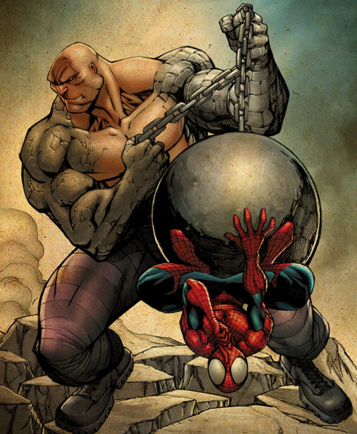 THE ABSORBING MAN VS. SPIDER-MAN