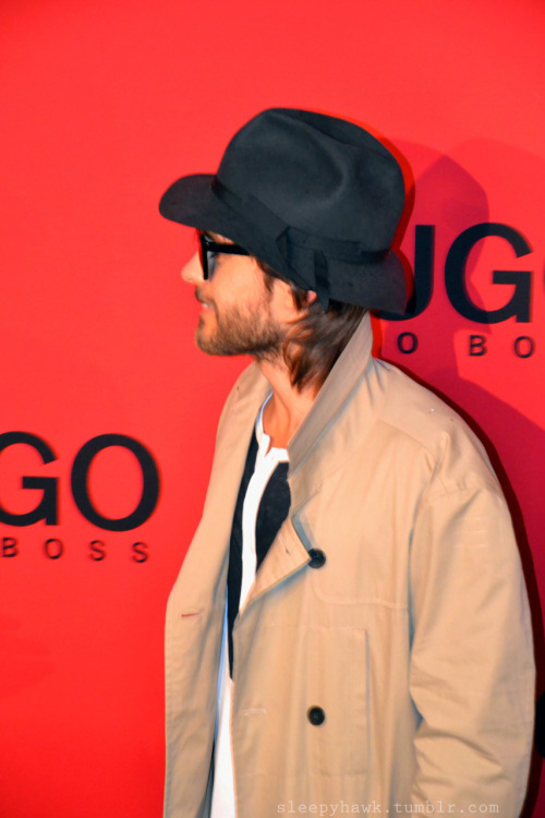 sleepyhawk:  Jared Leto and his Jawline at the Hugo Boss Show - Fashion Week Berlin Feb 19 2012