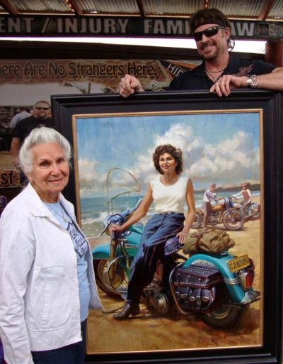 "David Uhl's Tribute to Gloria Tramontin, a wonderful motolady who has been paving the way for the rest of us for 69 years. (Submission from Ashley Benson)  She is 86, has done 69 years of riding in the US and abroad. She is our female hero, an inspiration for all bikers on and off her bike and a remarkable lady inside. She started riding at age 16, and since then she has always been and is still is a long distance rider who set all standards not only for women riders but for all bikers. She is a member of the Sturgis Hall Of Fame, one of the first in 1946 to have joined ""Motor Maids"".  Read more at CyrilHuzeBlog.com »"