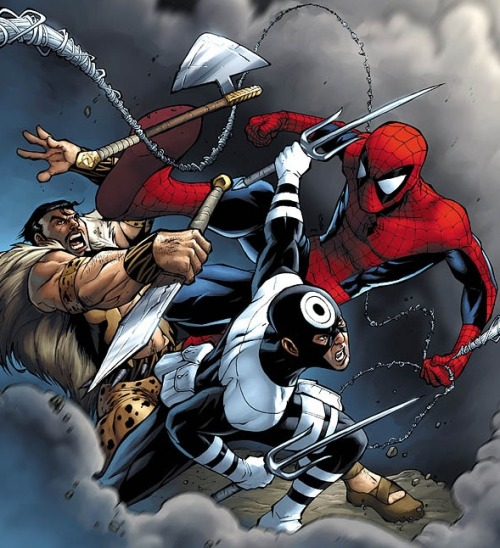SPIDER-MAN BATTLE KRAVEN THE HUNTER AND BULLESEYE