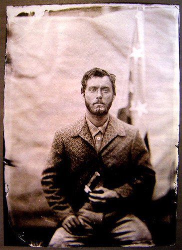 Jude Law, c. 1860. Another cinematic time-traveling boyfriend, this time from Cold Mountain. Submitted by Lisa