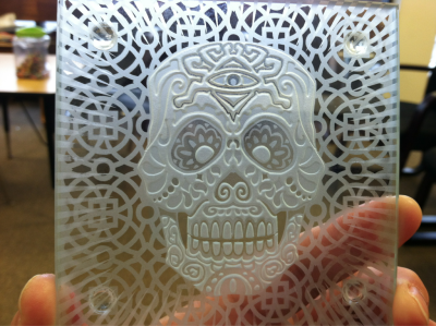 My new sugar skull from Imagined Glass