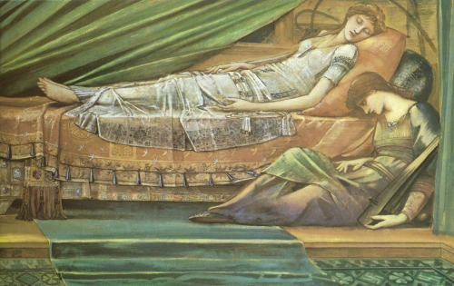 ponderful:  Edward Burne-Jones (1833-1898), The Sleeping Princess