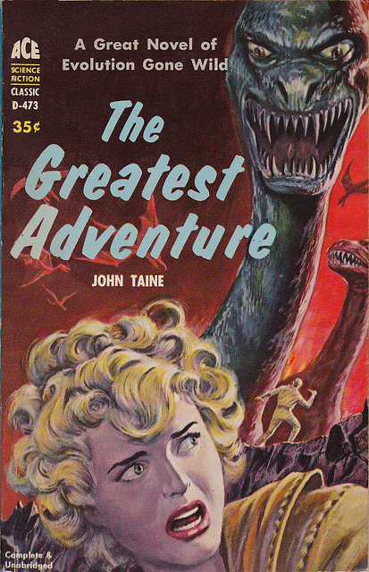 John Taine - The Greatest Adventure (Ace D-473) on Flickr.Via Flickr: Taine, John The Greatest Adventure 1960 AceD-273 Novel First Cover by Emshwiller, Ed