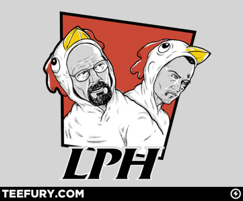 Los Pollos Hermanos! Amazing Breaking Bad/KFC Mash-up tee from TeeFury.