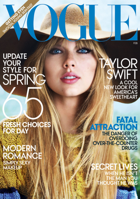 Taylor Swift Covers 'Vogue' February 2012