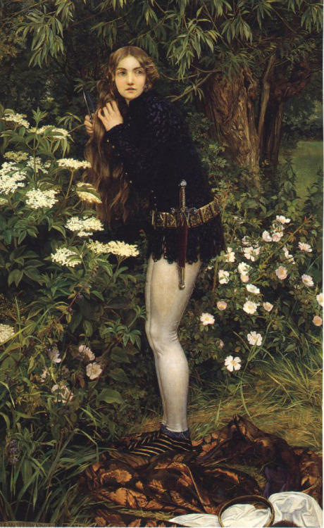 fuckyeahpreraphaelites:  The Little Foot PageEleanor Fortescue Brickdale1905