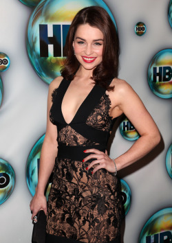 fuckyeahhotactress:  Emilia Clarke - HBO's Golden Globe Awards party in Los Angeles. January 15, 2012