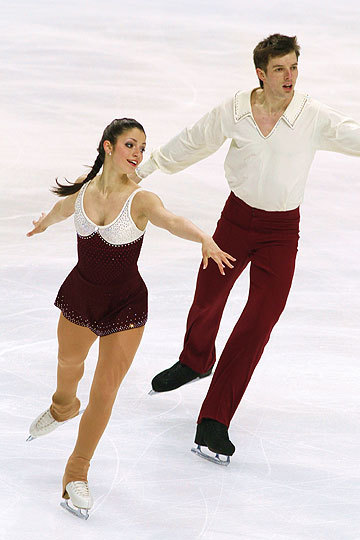 Stefania Berton and Ondrej Hotarek skating to Nino Rota's Romeo and Juliet at the 2011 World Championships. Photo by Robin Ritoss.