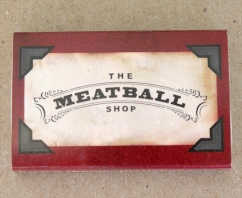 The Meatball Shop84 Stanton St.New YorkNYMatchbook