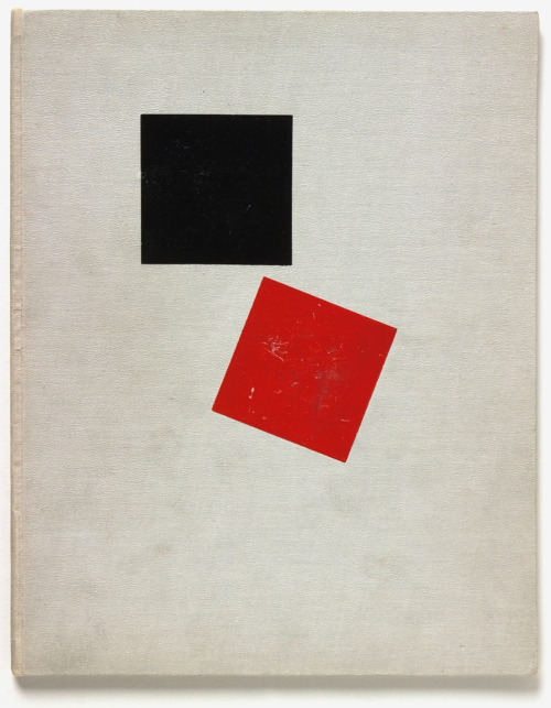 "russianavantgarde:   Image from El Lissitzky's Suprematist story — of two squares [Suprematicheskii Skaz], 1922.   Alain Badiou writes:   Even though Molloy, Malone and the Unnamable seek out and encounter other supposed subjects, they move towards their own solitude. The tone of The Unnamable could even be described as starkly solipsistic. Without doubt it is in Beckett's theatre, with the couples of Vladimir and Estragon (Waiting for Godot) or Hamm and Clov (Endgame), that something which will not cease to be at the heart of Beckett's fictions comes to the fore: the couple, the Two, the voice of the other, and lastly, love. Both to defer and to beckon death through distance, Malone recounts all the elements that this love contains: ""…what flutterings, alarms and bashful fumblings, of which only this, that they gave Macmann some insight into the meaning of the expression, Two is company…""   two is company"