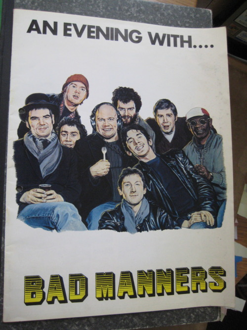 Merchandise from my first gig. Bad Manners supported by proto riot girl act Dolly Mixture, Margate Winter Gardens, 1981. I wrote about it in this piece for the Guardian some years later when This Is England came out, comparing the film's plot with my own youth.
