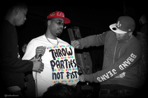 "jordansheaaa:  K00L J0HN  ""Throw Parties Not Fists"" 1/18/2010"