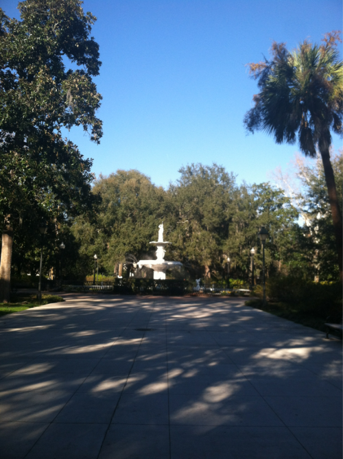 So beautiful. Forsyth Park