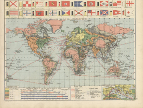 Unknown, 1920, Flags, Funnels & Principal Steamship Lines