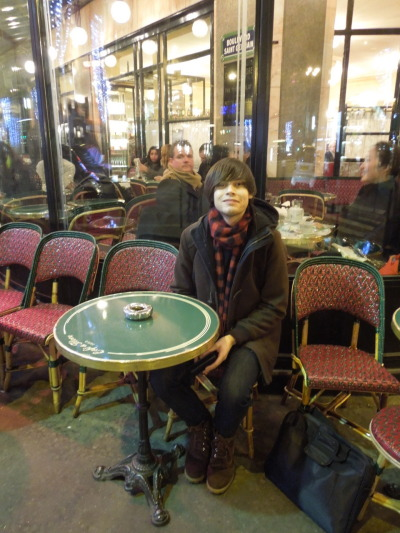 @ Cafe de Flore in Paris:  Sitting at the table Ina Garten sat at in her Paris episode of Barefoot Contessa.  Pretty fracken cool!