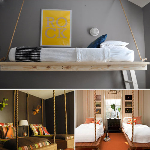 Things we're loving today: Floating Bed With Rope