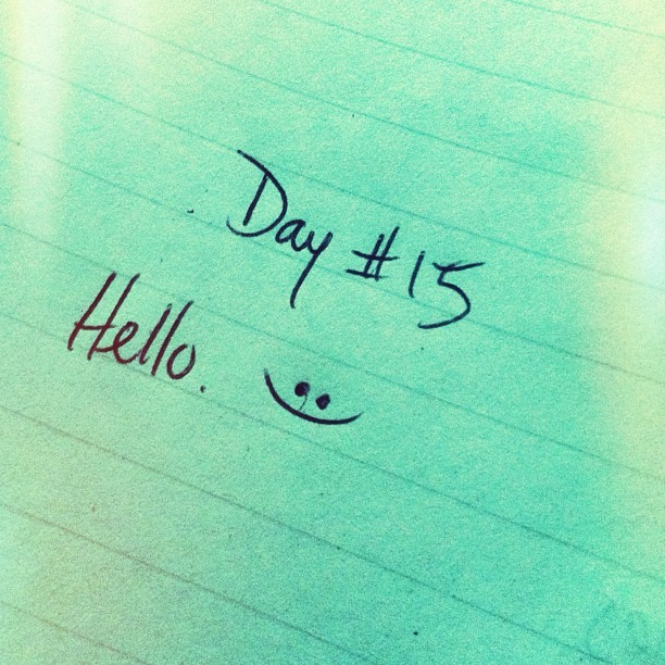 #day #fifteen #tumblr- #handwrite #hello. #script #written #handwritten #handwriting #hand #challenge #tumblrchallenge #instagram (Taken with instagram)