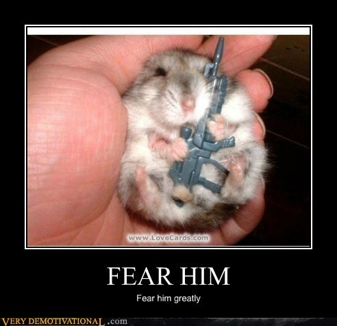 atlinmerrick:  Captain John Watson—in hamster form. Well don't just stand there, salute. That's an order sergeant.