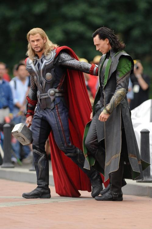 """NOW, BABY BROTHER, HOLD MY HAND WHILE WE CROSS THE STREET."" ""Thor, stop that. I'm an adult."" ""HOLD MY HAND, BROTHER."" ""I'm not your brother."" ""HOLD MY HAND."" ""Fine."