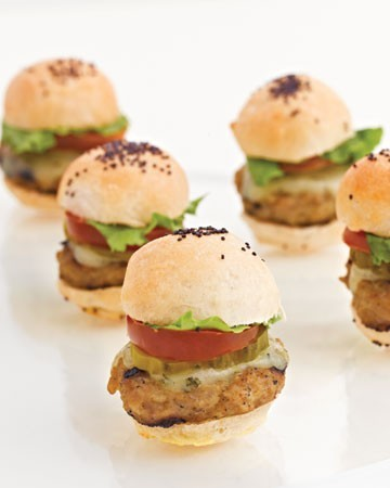 Mini Burgers from Martha Stewart