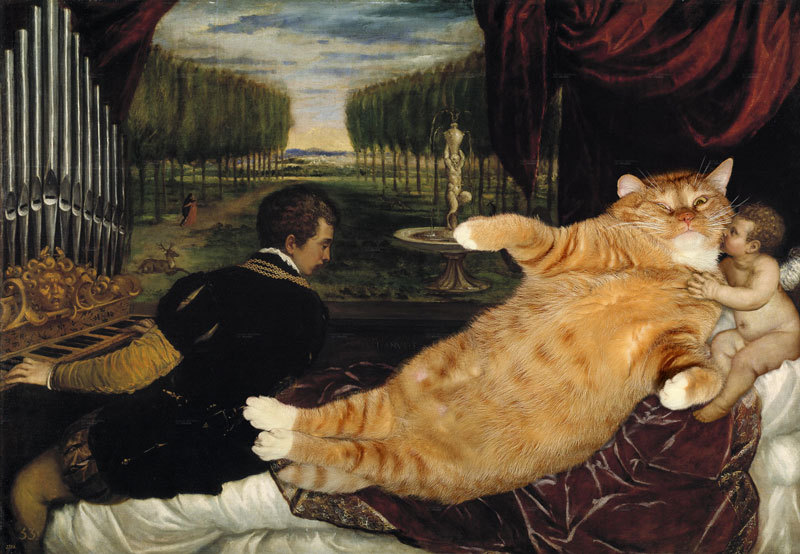 "brain-food:  Fat Cat Art - ""Great Artist Mews""  Your new favorite website."