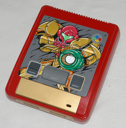 A Little Bit On The Metroid Side:  OSKUNK made this shweet custom Metroid Super Famicom. It's okay if it gives you a boner and/or makes your panties wet. It's totally natural.