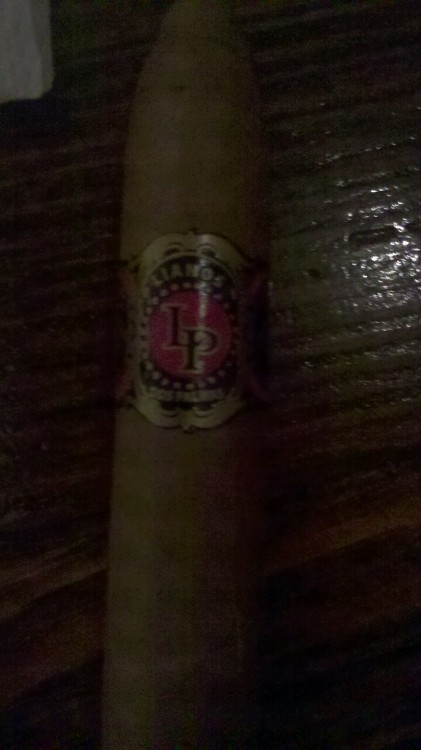 A Charleston-rolled Llanos Dos Palmas Dominican cigar. Will review tomorrow if I get the time.