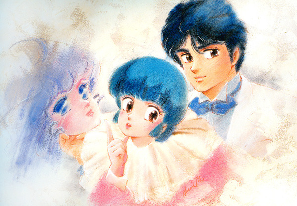 classicshoujo:  Artwork by Akemi Takada for Creamy Mami (1983)  Reminds me of Ranma artwork!