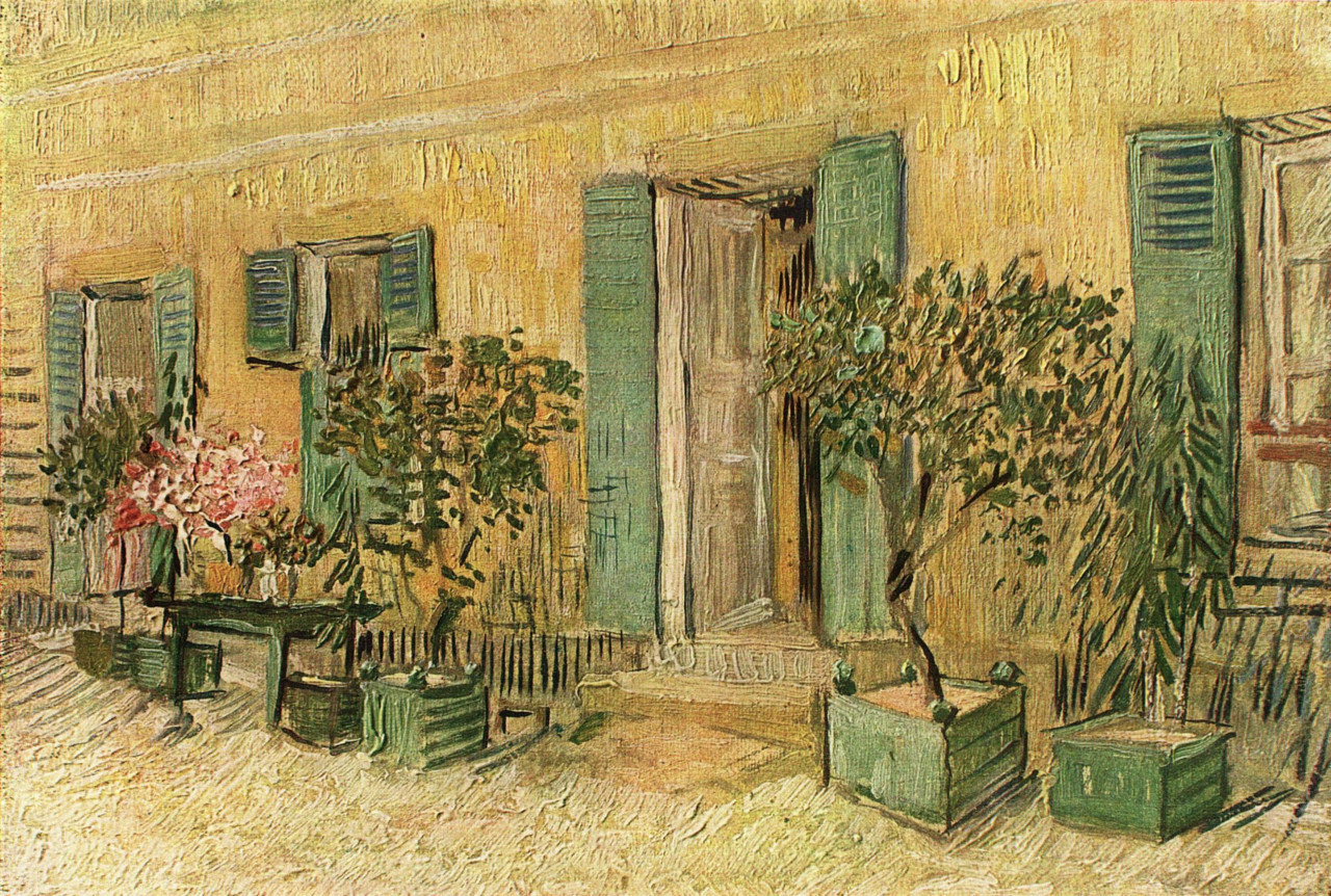 Exterior of a Restaurant at Asnieres, 1887, Vincent van Gogh