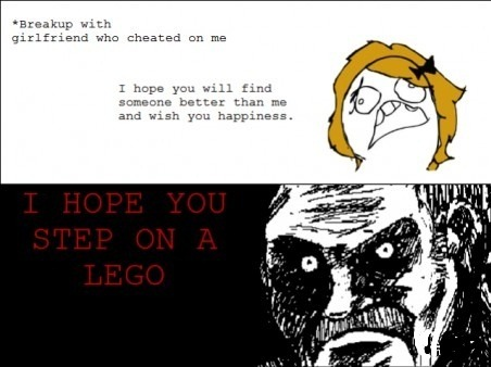 I hope you step on a lego..