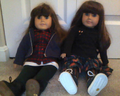 my american girl dollz were punk as fuck. note: tiny doc martins.