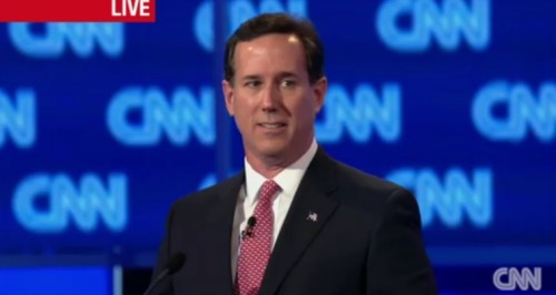 "Rick Santorum just launched a thorough denunciation of Newt Gingrich's qualities as a leader, questioning the credit he takes for the 1994 Republican revolution, and decrying his leadership as Speaker of the House: ""I served with Newt, I knew the problems that were happening in the House of Representatives. Four years into his term as Speaker he was kicked out by the conservatives."" He derided Newt's tenure as producing a plethora of ideas, but completely lacking in discipline. More debate coverage: ShortFormBlog 