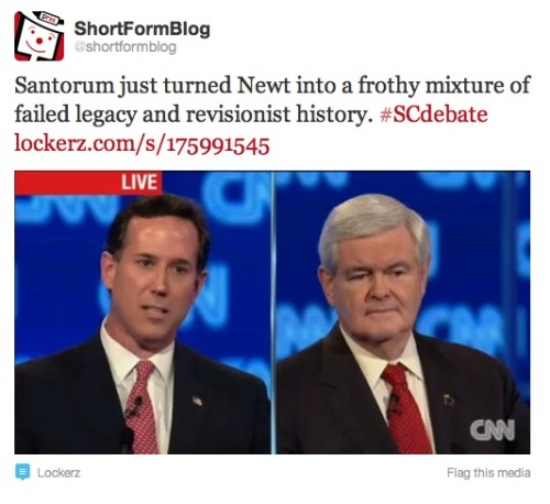 Must admit we were proud of this tweet. More debate coverage: ShortFormBlog | DC Decoder
