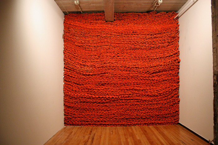 fyeahwomenartists:  Orly GengerBig Boss, 2010Rope with latex paint