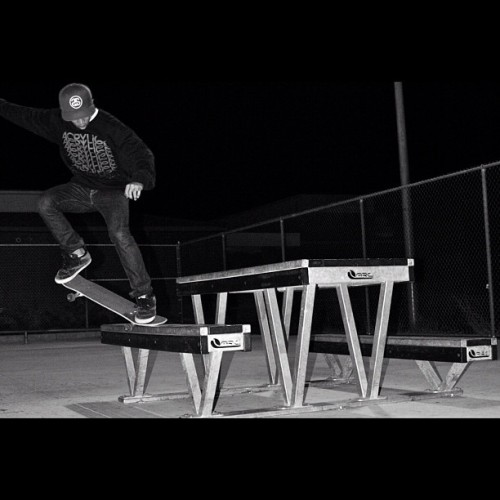 Back in the day. Crooks on the bench. (Taken with instagram)