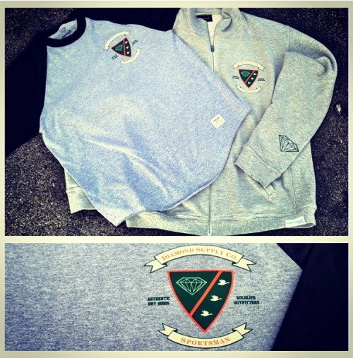 Nick took to Instagram to share his Limited Edition Diamond Supply Co Sportsman Raglan tees and French Terry zip sweaters. This will be a Fairfax only release of 50 Raglan tees and 20 sweaters. #THHS