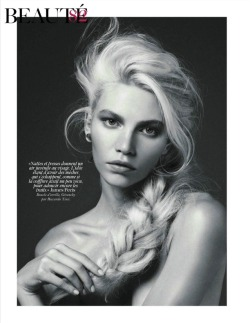 I have SERIOUS hair envy right now.  Aline Weber by Giampaolo Sgura for Vogue Paris