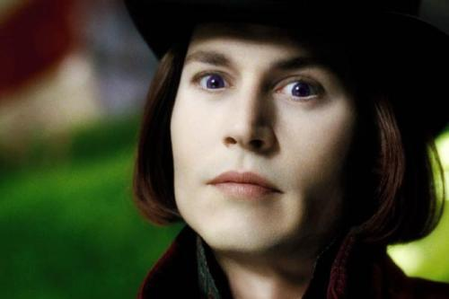Johnny Depp & Tim Burton: Johnny Depp as Willy Wonka in Charlie & The Chocolate Factory (2005)