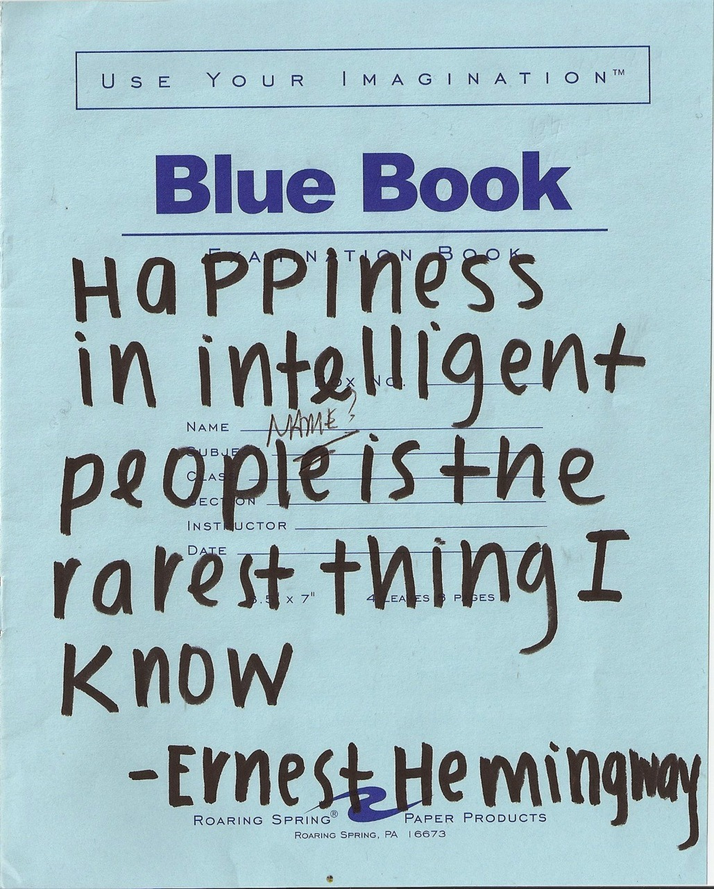 Does Hemingway speak the truth?  If so, his words may explain my eternal state of longing.